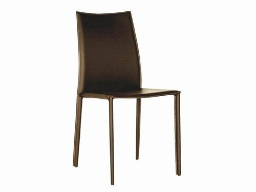 Baxton Studio Rockford Brown Leather Dining Chair - Set of 2