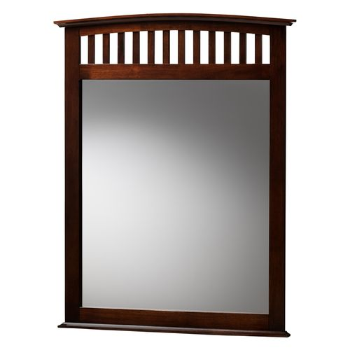 Baxton Studio Metropolitan Modern and Contemporary Merlot Brown Finished Bedroom Mirror