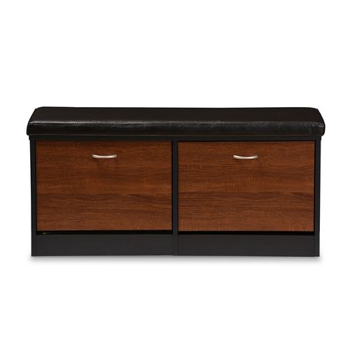 Baxton Studio Foley Modern and Contemporary 2-tone Dark Brown and Oak Finishing Entryway Storage Cus