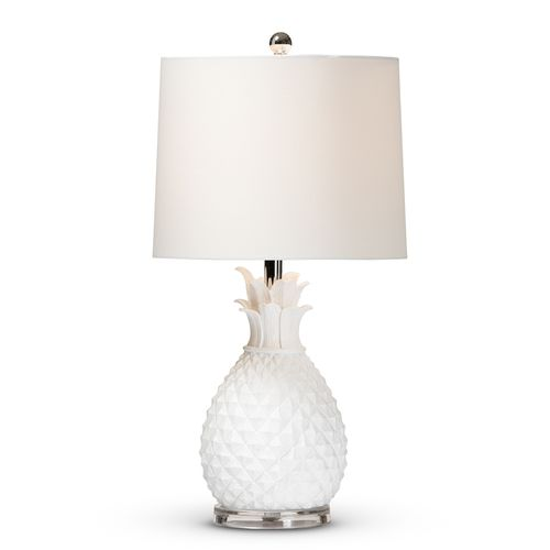 Baxton Studio Flinn Modern and Contemporary White Pineapple Table Lamp