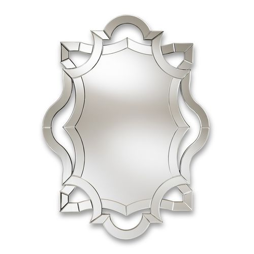 Baxton Studio Colina Modern and Contemporary Silver Finished Accent Wall Mirror