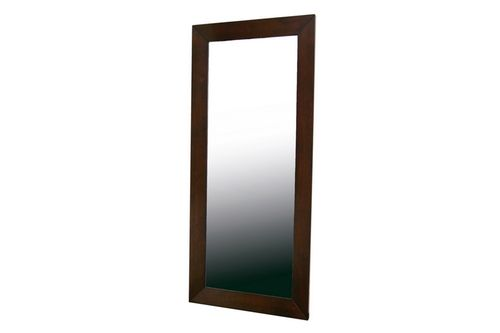 Baxton Studio Doniea Dark Brown Wood Frame Modern Mirror - Rectangle
