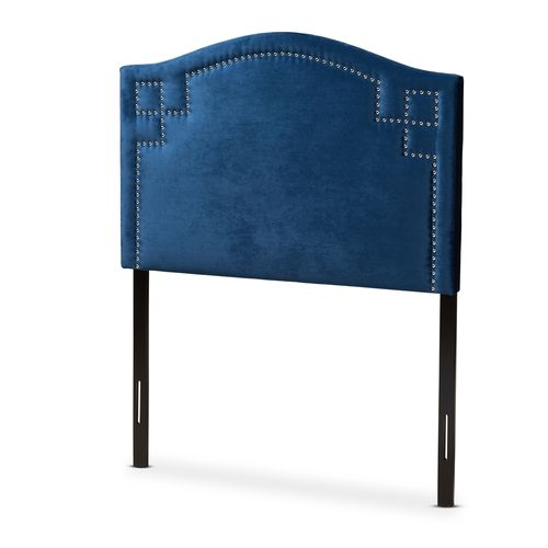 Baxton Studio Aubrey Modern and Contemporary Royal Blue Velvet Fabric Upholstered Twin Size Headboar