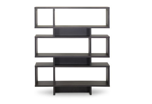 Baxton Studio Cassidy 6-Level Dark Brown Modern Bookshelf