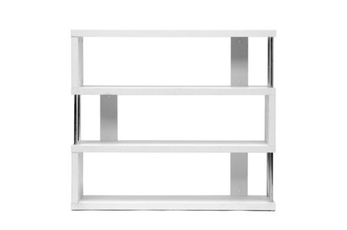 Baxton Studio Barnes White Three-Shelf Modern Bookcase