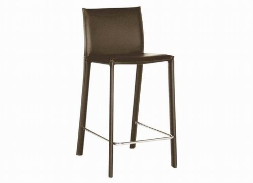 Baxton Studio Brown Leather Counter Stool (Set of 2)