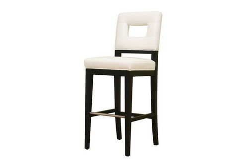 Baxton Studio Faustino Cream Leather Barstool